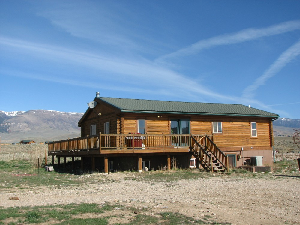 Horse Property With Log Home Clark Wyoming Home For Sale