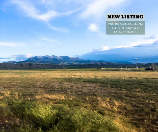 two building lots outside cody wyoming, land for sale in nw wyoming